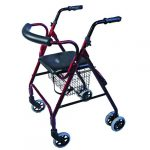 Days-Seat-Walker-with-Compression-Brakes-and-Curved-Backrest-Red-MOBWAL70371